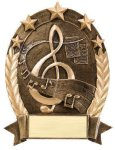 5 Star Oval -Music 5 Star Oval Resin Trophy Awards