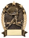 5 Star Oval -Softball Female 5 Star Oval Resin Trophy Awards