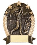 5 Star Oval -Golf Male 5 Star Oval Resin Trophy Awards