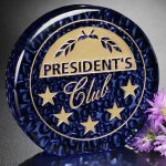 Recycled Glass Raindrop Blue Achievement Award Trophies