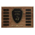 Cast Bronze Trim Perpetual Plaque Achievement Award Trophies
