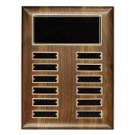Walnut Perpetual Plaque Achievement Award Trophies