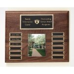 Walnut Perpetual Photo Plaque Achievement Award Trophies