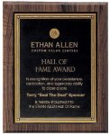 Walnut Hardwood Bevel Edge Plaques Achievement Award Trophies
