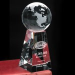 Tapered Globe Achievement Award Trophies