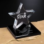 Tapered Star on Base Achievement Award Trophies