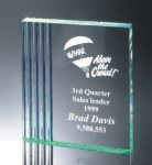 Fluted Side Acrylic Award Achievement Awards