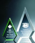 Beveled Peaks Acrylic Award Arrowhead Awards
