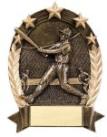 5 Star Oval -Baseball Male Baseball Trophy Awards