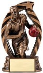 Antique Bronze and Gold Award -Basketball Male  Basketball Trophy Awards