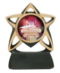 Star Resin Mylar Holder Basketball Trophy Awards
