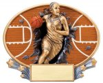 Motion X Oval -Basketball Female Basketball Trophy Awards