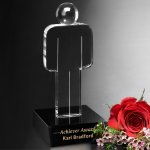 Unity Figure Black Optical Crystal Awards