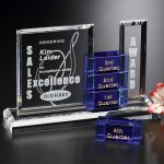 Glendora Goal-Setter Blue Optical Crystal Awards