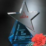 Azure Star Blue Optical Crystal Awards