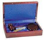 Rosewood Piano Finish Directors Gavel Set Boss Gift Awards