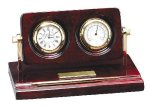 Piano Finish Rosewood Desk Clock with Instruments Boss Gift Awards