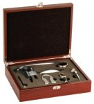 5-Piece Wine Tool Set -Rosewood Finish Boss Gift Awards