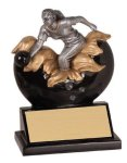 Xploding Resin -Bowling Female  Bowling Trophy Awards