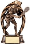 Bronze and Gold Award -Tennis Female Bronze and Gold Star Resin Trophy Awards