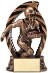 Antique Bronze and Gold Award -Football Bronze and Gold Star Resin Trophy Awards