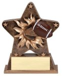 Star Burst Resin -Football Bursting Star Resin Trophy Awards