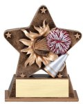 Star Burst Resin -Cheerleading Bursting Star Resin Trophy Awards
