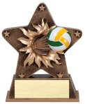Star Burst Resin -Volleyball Bursting Star Resin Trophy Awards
