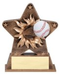 Star Burst Resin -Baseball Bursting Star Resin Trophy Awards