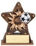 Star Burst Resin -Soccer Bursting Star Resin Trophy Awards