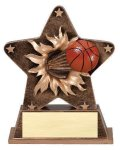 Star Burst Resin -Basketball Bursting Star Resin Trophy Awards