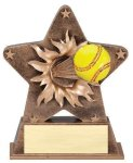 Star Burst Resin -Softball Bursting Star Resin Trophy Awards