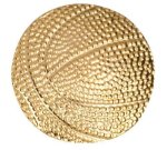 Gold Basketball Metal Chenille Letter Insignia Chenille Lapel Pins
