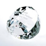 Duet Round Paperweight- Clear Circle Awards