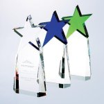 Triumphant Star Award Clear Optical Crystal Awards