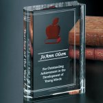 Chronicle Book Clear Optical Crystal Awards
