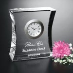 Expectation Clock Clear Optical Crystal Awards
