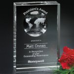 Drake Global Award Clear Optical Crystal Awards