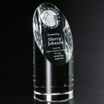 Quantico Cylinder Clear Optical Crystal Awards