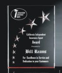 RIST-7 3 Dimensional Carved Star Plaque  Colored Acrylic Awards