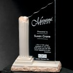 Corinthian Column Corporate Crystal Awards