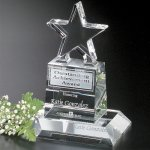 Champion Pedestal Star Crystal Glass Awards