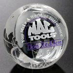 Clipped Globe Crystal Glass Awards