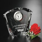 Fanfare Clock Crystal Glass Awards