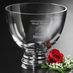 Clear Pedestal Bowl Crystal Glass Awards