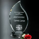 Flame Award Crystal Glass Awards