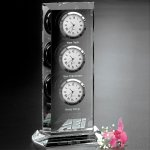 Trilogy Clock Crystal Glass Awards