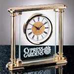 Glass Mantel Clock Desk Clocks