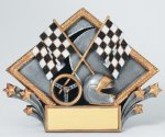 Resin Diamond Plate -Racing Diamond Plate Resin Trophy Awards