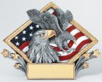 Resin Diamond Plate -Eagle Diamond Plate Resin Trophy Awards